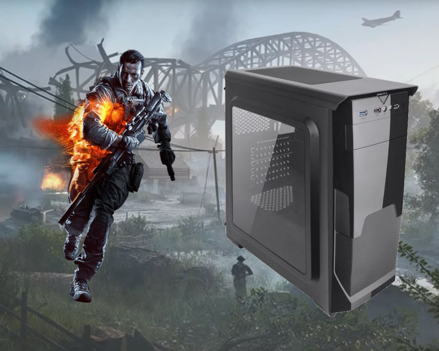 MAGIC Gamer számítógép #5, Intel Core i5-8400, 480 GB Kingston SSD + 1000GB HDD, Gigabyte GTX 1050 TI OC 4G 4GB DDR5, 8 GB DDR4 memória